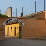 """""""Work will make you free"""" slogan painted over the entrances to many Concentration Camps"""